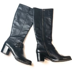 Adrienne Vittadini Tall Leather Boots